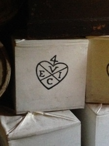 Boxes of tea bearing the East India Company logo
