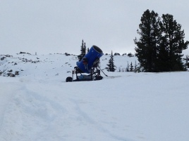 Snow machine on Blackcomb Mountain