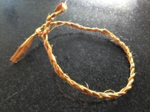 Cedar bark bracelet