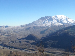 Mount St. Helens on 15.11.14 - the collapsed north face visible.