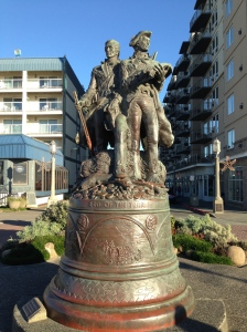 Lewis and Clark memorial in Seaside, Oregon.